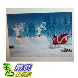 [COSCO代購 如果沒搶到鄭重道歉] 經典LED 麋鹿雪撬造型聖誕裝飾燈 _W109547