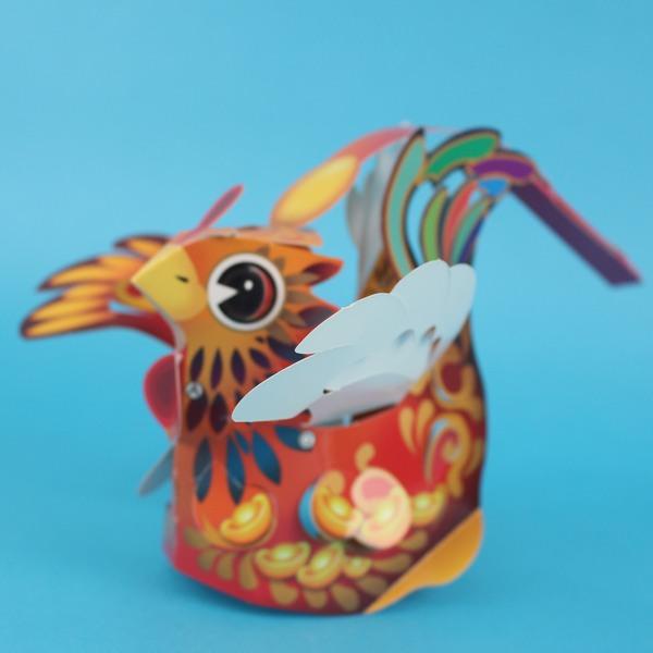 DIY雞年燈籠 2017燈籠 紙折雞燈籠 紙燈籠/一個入{定50}~內附LED五彩燈+電池~ST安全玩具