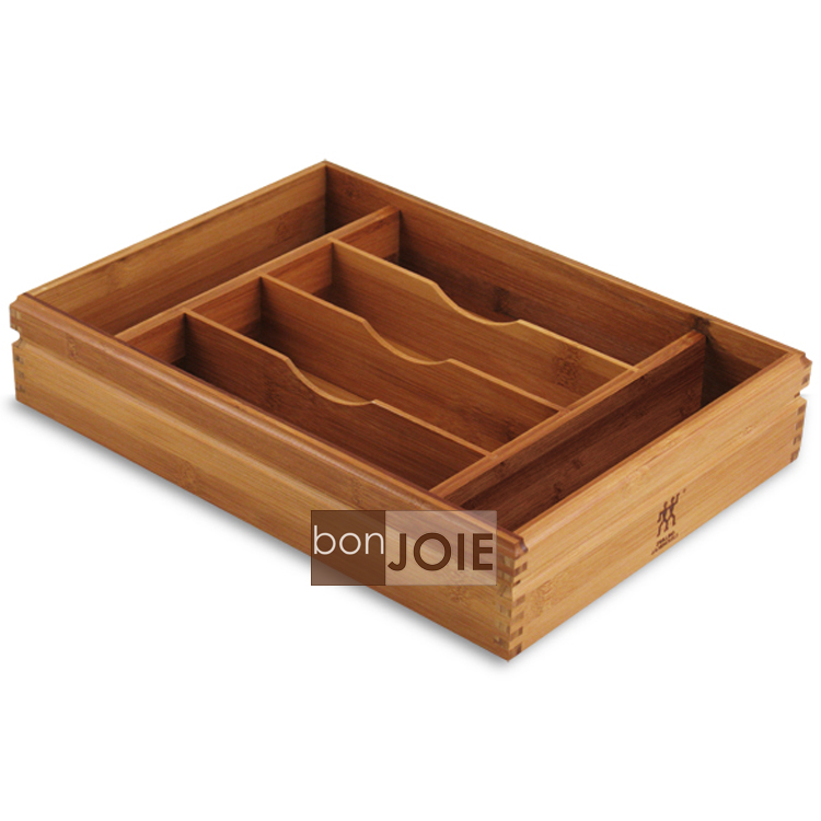 ::bonJOIE:: 德國雙人牌 竹製餐具收納盒 ( 不銹鋼 湯匙 刀子 叉子 筷匙 刀叉 收納盤 木盒 木盤 木頭盒 木頭盤 竹子製 德國雙人 雙人牌 )