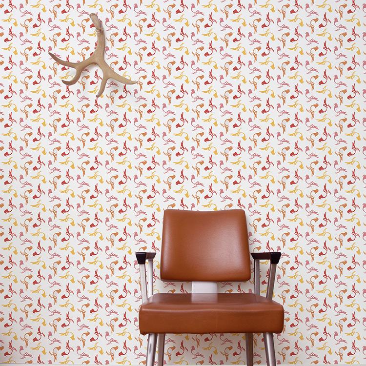 Aimee Wilder / ANALOG Collection Pigeon punch 壁紙 (訂貨單位71.1cm×9m/卷)