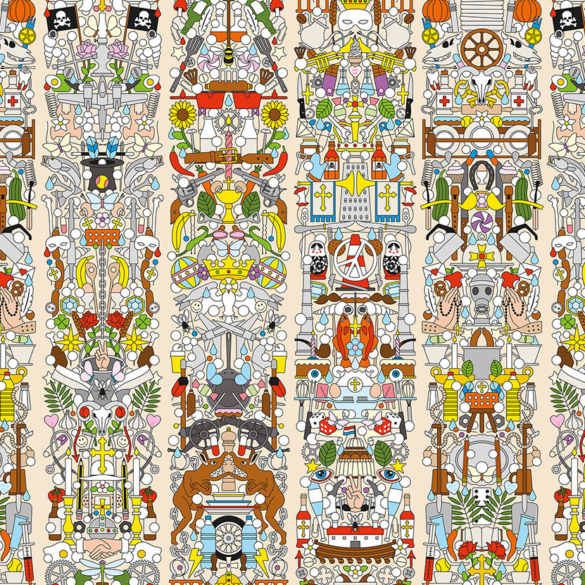 Archives Wallpaper by Studio Job / Alt Deutsch (JOB-04) 壁紙 (訂貨單位48.7cm×9m/卷)