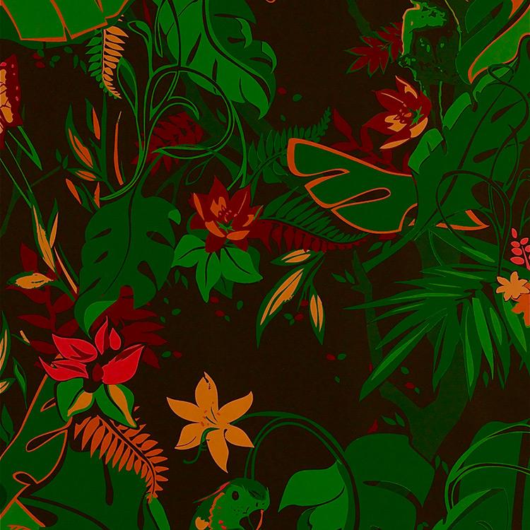 Flavor Paper FEROZ / Jungle Fever On Ebony 壁紙 (訂貨單位68.58cm×13.7m/卷)