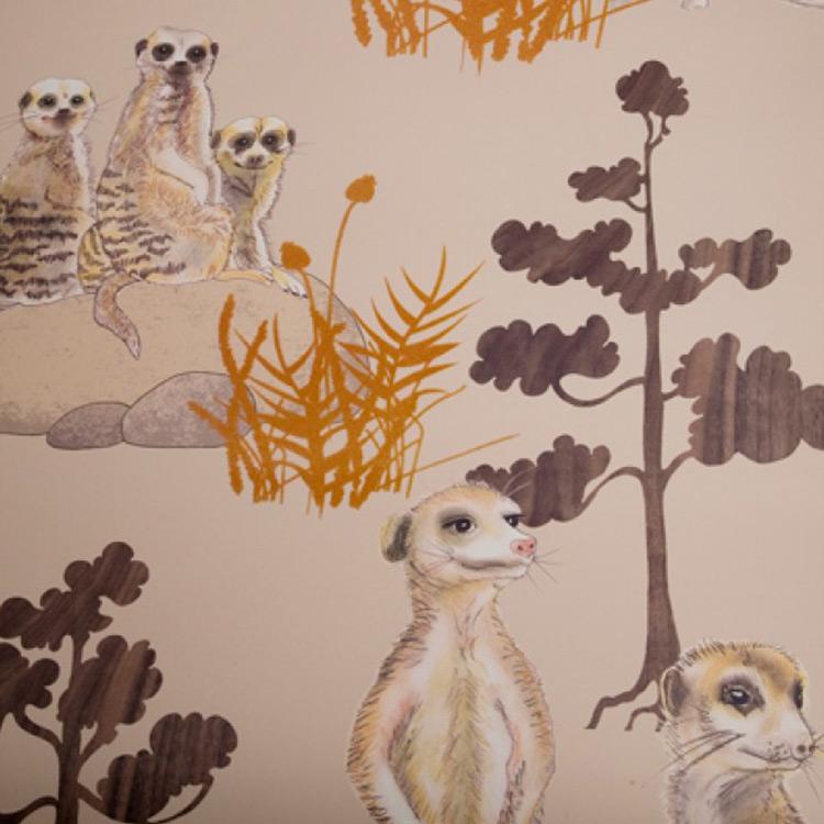 Kate Usher Studio / Mr Meerkat 壁紙 (訂貨單位52cm×10m/卷)