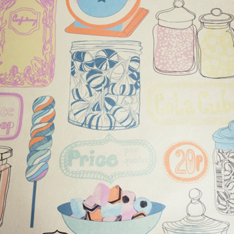 Kate Usher Studio / Oh Sweetie 壁紙 (訂貨單位52cm×10m/卷)