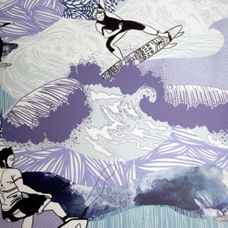 Kate Usher Studio / Sharkbait 壁紙 (訂貨單位52cm×10m/卷)