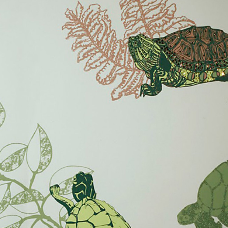 Kate Usher Studio / Turtle Turtle 壁紙 (訂貨單位52cm×10m/卷)