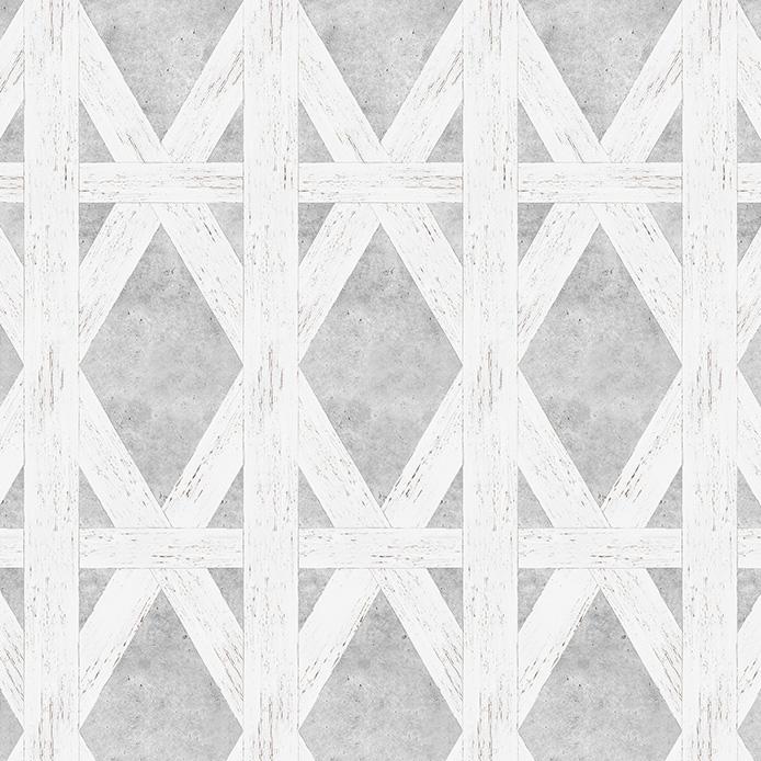 mineheart / White Tudor Wallpaper 壁紙 (訂貨單位50cm×250cm/卷)