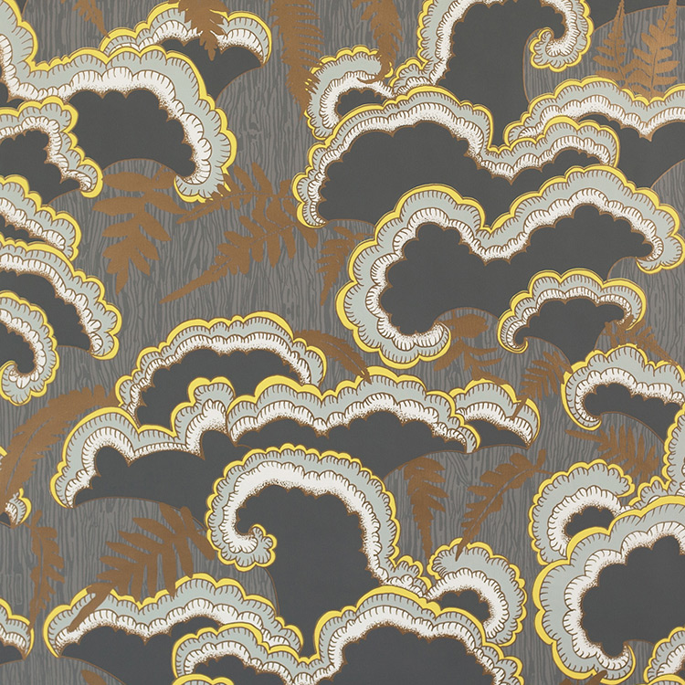 Makelike / Lush/dark-grey 壁紙 (訂貨單位68.58cm × 9.1m/卷)