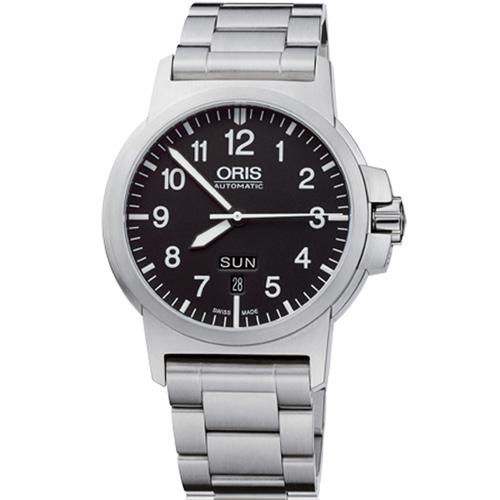 ORIS 豪利時0173576414164-0782203 BC3雙日曆機械腕錶/黑面42mm