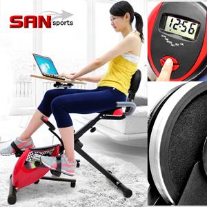 【SAN SPORTS 山司伯特】超跑飛輪式磁控健身車(臥式健身車臥式車.懶人車X型BIKE美腿機.折疊腳踏車摺疊自行車.運動健身器材.推薦哪裡買)C082-923