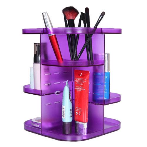 化妝盒 可360度化妝品收納盒 旋轉收納架