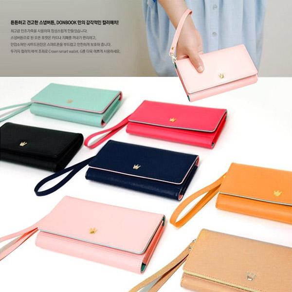 韓版皇冠 長版手機包 手機皮夾  (165X95X23mm)