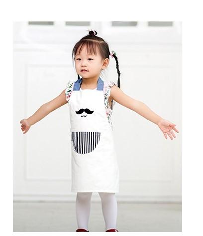 親子款 兒童圍裙 優質韓版創意可愛 防油防污圍裙純棉圍兜S号兒童 適合4-12歲兒童 另有成人款可供選擇