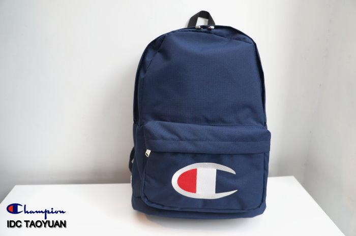 ►法西歐_桃園◄ Champion Logo Backpack 日版 尼龍 電繡 Logo 後背包  白 深藍 黑色 三色 深藍
