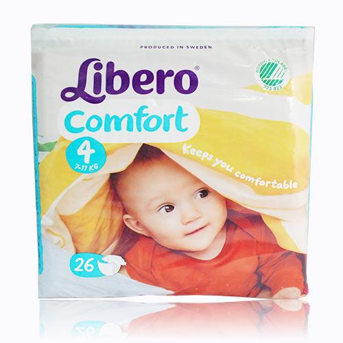 ★衛立兒生活館★麗貝樂 Libero 嬰兒紙尿褲L 4號-26片x8包(尿布)