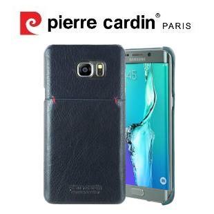 [ Samsung Note5 ] Pierre Cardin法國皮爾卡登日系簡約真皮卡袋手機殼/保護殼/皮套 寶藍色