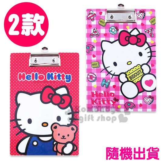 〔小禮堂〕Hello Kitty 文件板夾《2款.隨機出貨.紅/粉.A5》