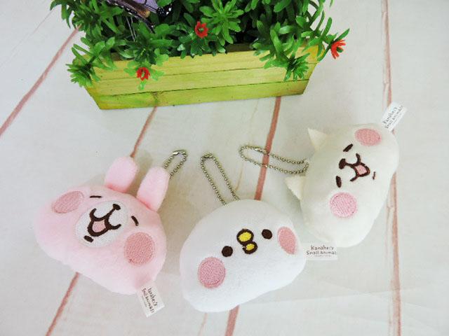 ~*MY 71*~ 絨毛娃娃 3吋 卡娜赫拉頭型吊飾 可愛 吊飾 玩偶 兔子 小雞 貓咪 兒童 玩具 禮物