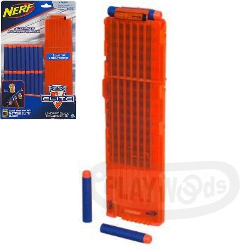 【Playwoods】[NERF樂活打擊]N-STRIKE ELITE 彈匣組-含18發子彈(補充彈夾/孩之寶-適用於Elite系列)