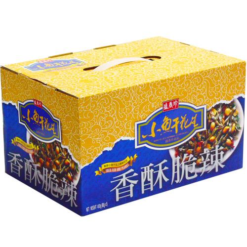 《盛香珍》小魚干花生禮盒 400g (盒)-附提把