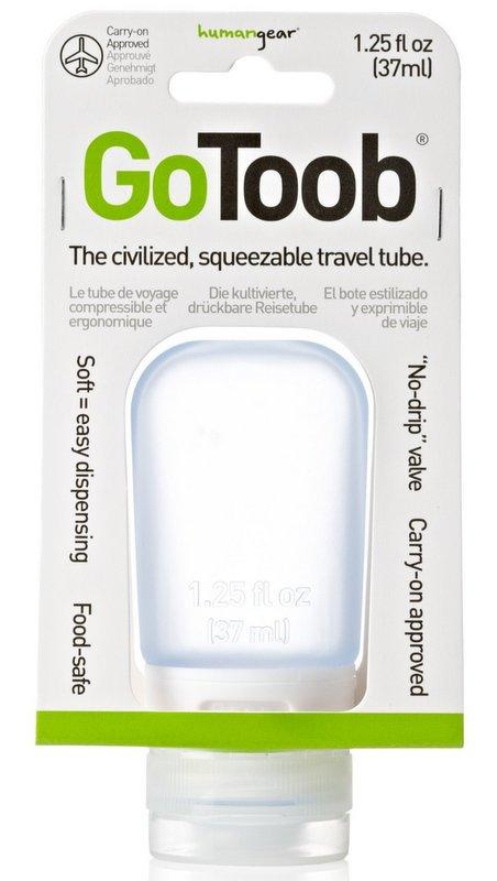 GoToob分裝瓶小37ml/旅行分裝瓶/乳液分裝瓶/矽膠分裝瓶 天空藍 humangear美國旅行用品/台北山水