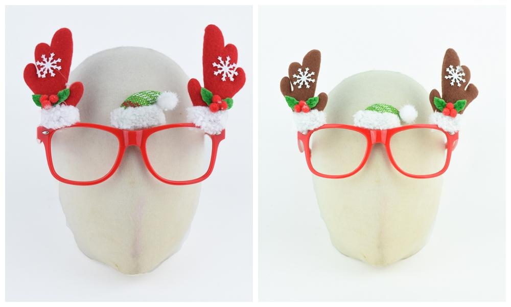 X射線【X419294】小鹿角造型眼鏡,聖誕節/派對/尾牙/表演/角色扮演/面具/舞會/搞怪/蠟燭/春酒/道具/造型眼鏡/慶生/佈置