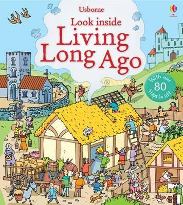 英國 Usborne 翻翻書 look inside Living Long Ago 古代生活 *夏日微風*