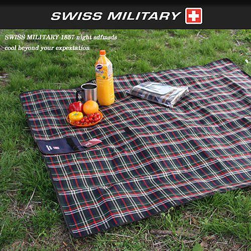 [阿爾卑斯戶外/露營] 土城 SWISS MILITARY 蘇格蘭野餐墊/地墊 130x150cm S3T3M001GN