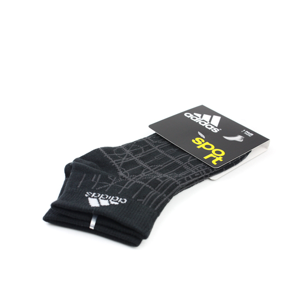 adidas Sport 舒適 好穿 柔軟 棉 彈性纖維 襪 黑色 noB39