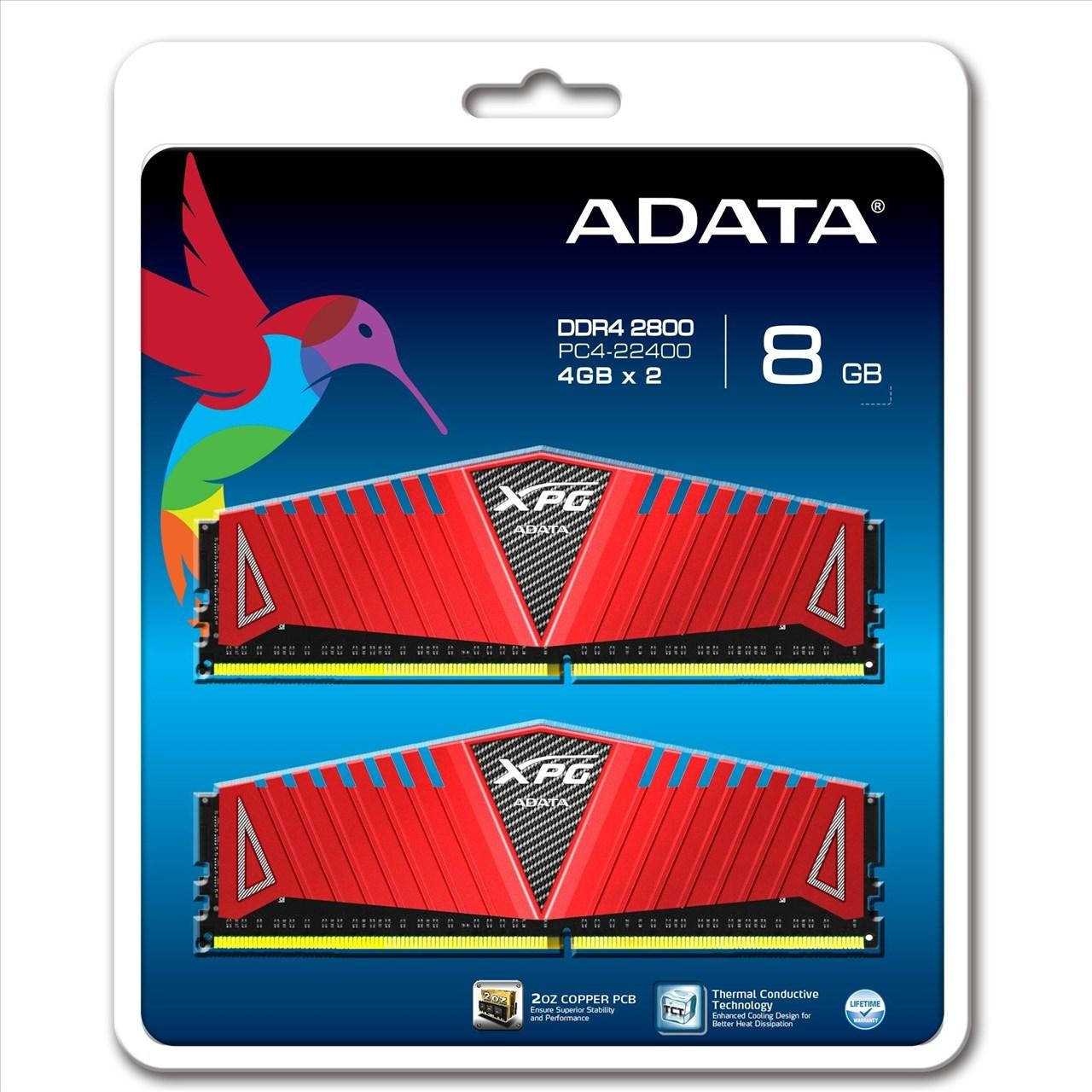 *╯新風尚潮流╭*威剛 XPG Z1 超頻 8G DDR4-2800 17-17-17-36 終保 AX4U2800W4G17-DRZ
