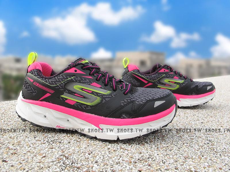 Shoestw【14110BKHP】SKECHERS 慢跑鞋 GO TRAIL ULTRA3 黑灰螢桃 戶外越野慢跑