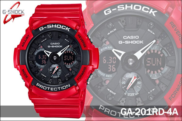 CASIO G-SHOCK 新春紅 GA-201RD-4A 黑面紅膠