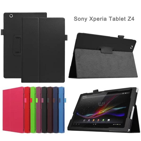 【斜立、書本式】Sony Xperia Z4 Tablet 10吋 荔枝紋皮套/翻頁式皮套/筆記本型手拿包/斜立展示皮套