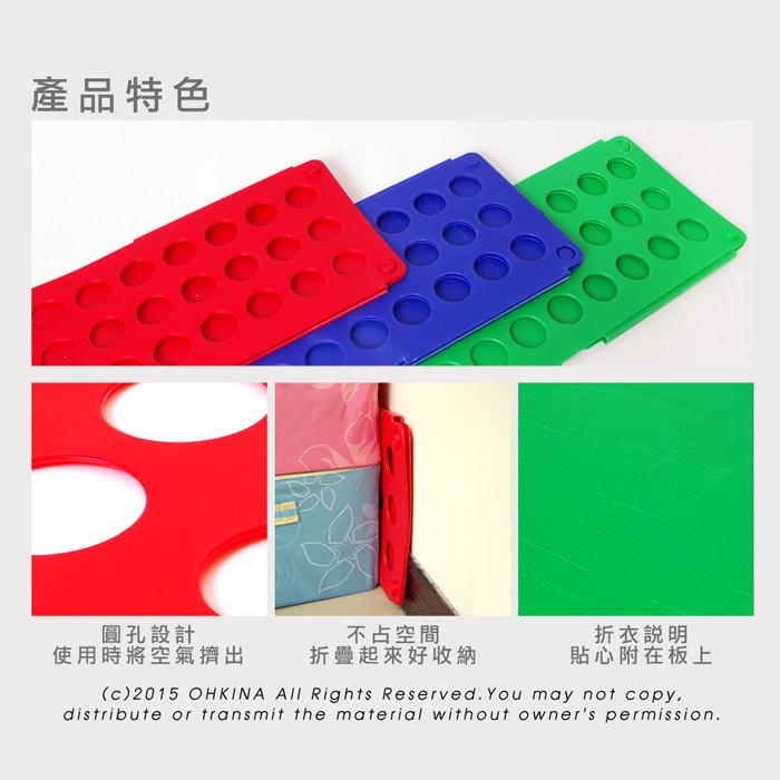 【歐奇納 OHKINA】神奇快速萬用折衣板(2入) 圖示介紹3