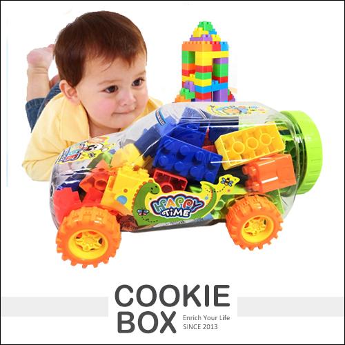 小越野車 益智類 積木 兒童 玩具 激發 想像力 腦力 百變 造型 *餅乾盒子*