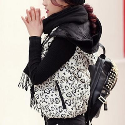 輕羽絨背心 外套-短款連帽保暖防風女背心3色72x1【獨家進口】【米蘭精品】