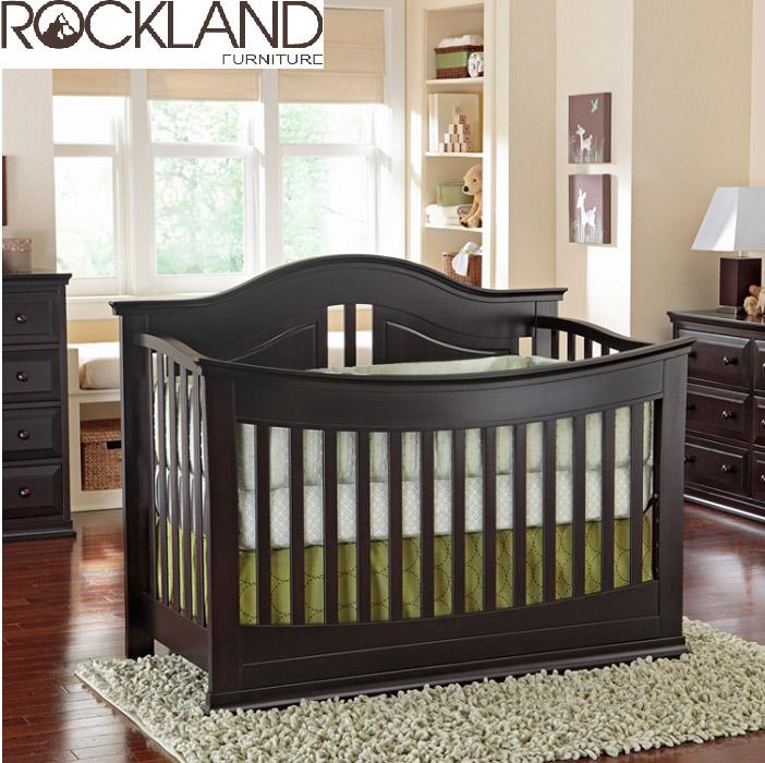 【Rockland】奧斯丁嬰兒床(2色)-附贈床墊+床側護欄
