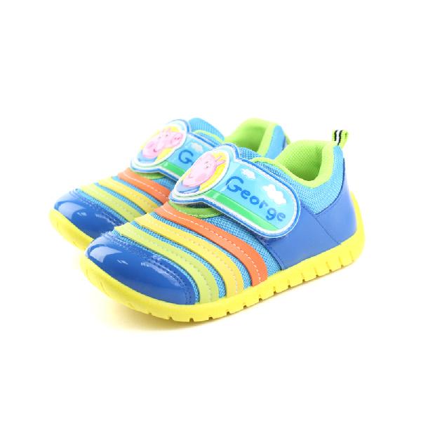 粉紅豬小妹 運動鞋 童鞋 藍色 中童 no658