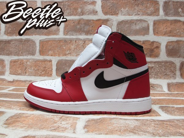 BEETLE PLUS NIKE AIR JORDAN 1 RETRO HIGH OG BG CHICAGO 芝加哥 喬丹 公牛 皮朋 白黑紅 女鞋 575441-101