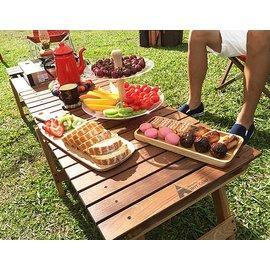 【【蘋果戶外】】Hot Camp HC807 胡桃木料理桌 胡桃木桌面 延伸板 戶外 露營 野餐
