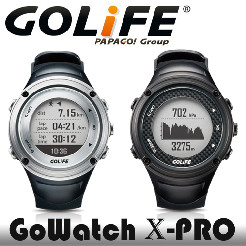 PAPAGO! GOLiFE GoWatch X-PRO 全方位戶外GPS智慧運動錶◆集三大感應器/智慧提醒/運動訓練多功能於一錶