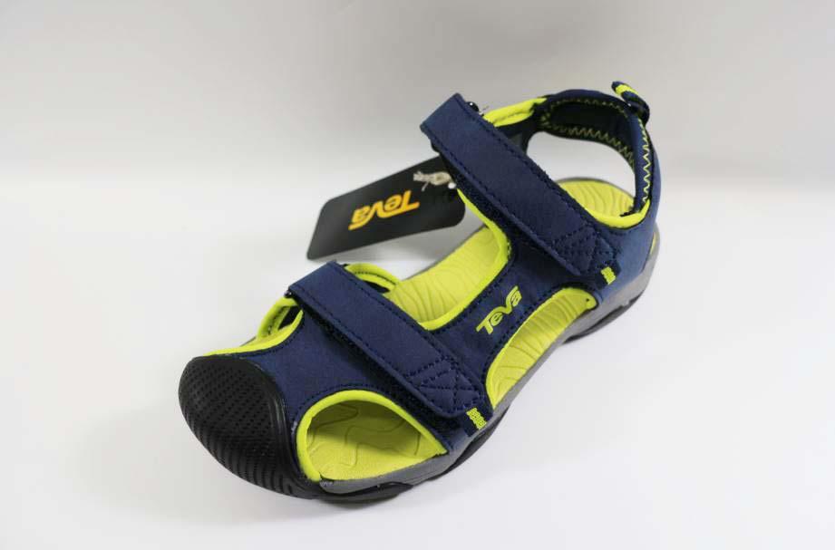 [陽光樂活] TEVA-(童) TOACHI 4 護趾系列 運動涼鞋-TV110238CNLM (海軍藍/檸檬黃)