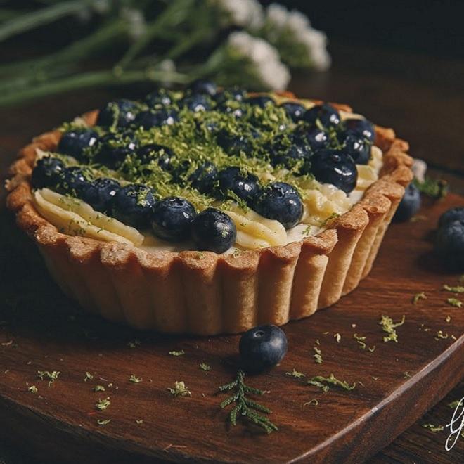 【葛藤甜點】【免運】 藍莓檸檬塔 六吋