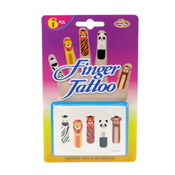 【888便利購】手指紋身貼紙(6片裝)(動物版)