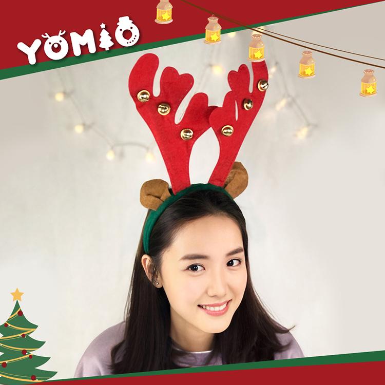 【888便利購】可愛麋鹿角造型聖誕髮箍(帶耳朵+大鈴噹)(大人小孩皆可戴)(量大可優惠)
