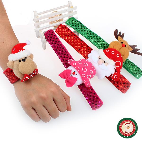 【888便利購】亮彩版超可愛聖誕造型拍拍手環(多款隨機)(量大可優惠)