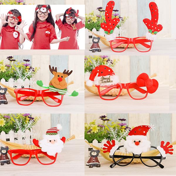 【888便利購】聖誕裝飾玩偶造型眼鏡框(多款可以挑選)(大人小孩皆可戴)(量大可優惠)