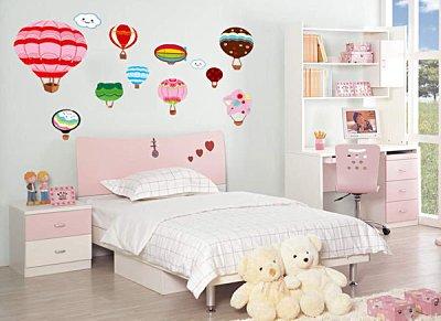 BO雜貨【YP1540】創意可移動壁貼 牆貼 背景貼 兒童房設計佈置布置 兒童璧貼 熱氣球