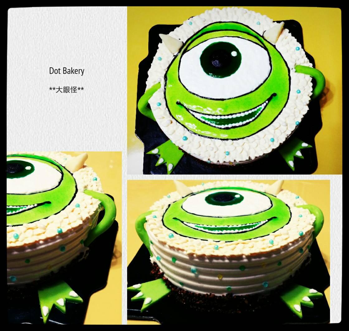 卡通造型蛋糕-大眼怪6吋