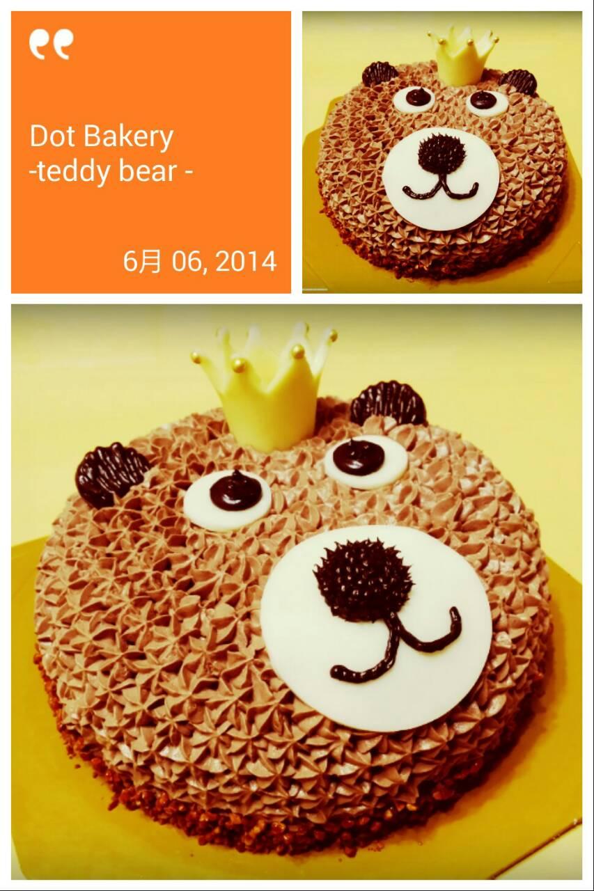 卡通造型蛋糕-泰迪熊6吋
